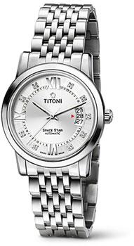 Швейцарские наручные  мужские часы Titoni 83738-S-362. Коллекция Space Star