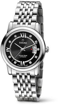Швейцарские наручные  мужские часы Titoni 83738-S-363. Коллекция Space Star