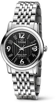 Швейцарские наручные  мужские часы Titoni 83738-S-369. Коллекция Space Star