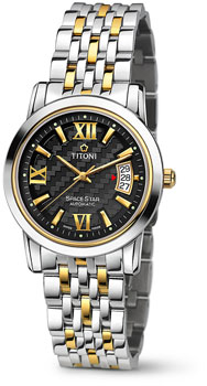 Швейцарские наручные  мужские часы Titoni 83738-SY-343. Коллекция Space Star