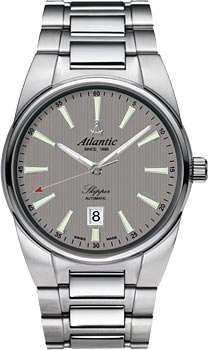 Швейцарские наручные  мужские часы Atlantic 83765.41.41. Коллекция Skipper