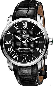 Швейцарские наручные  мужские часы Titoni 83788-S-ST-315. Коллекция Master Series