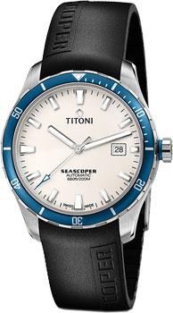 Швейцарские наручные  мужские часы Titoni 83985-SBB-RB-516. Коллекция Seascoper