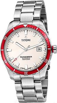 Швейцарские наручные  мужские часы Titoni 83985-SRB-516. Коллекция Seascoper