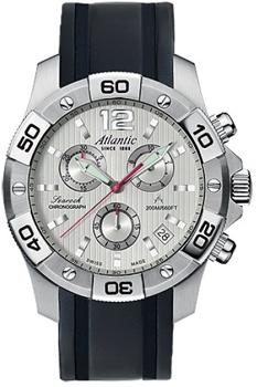 Швейцарские наручные  мужские часы Atlantic 87471.41.25S. Коллекция Searock
