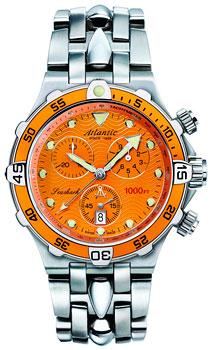 Швейцарские наручные  мужские часы Atlantic 88487.41.71. Коллекция Seashark