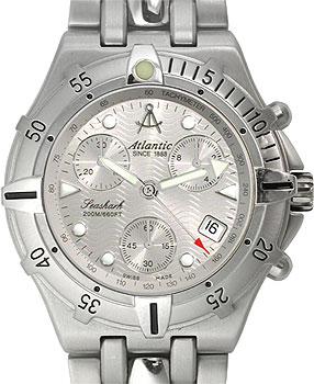 Швейцарские наручные  мужские часы Atlantic 89457.41.25. Коллекция Seashark
