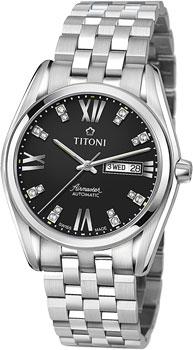 Швейцарские наручные  мужские часы Titoni 93709-S-386. Коллекция Airmaster