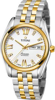 Швейцарские наручные  мужские часы Titoni 93709-SY-385. Коллекция Airmaster