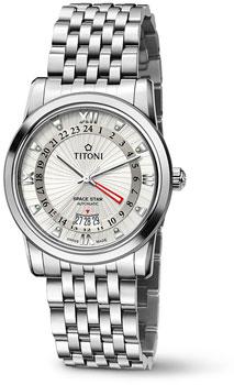 Швейцарские наручные  мужские часы Titoni 94738-S-377. Коллекция Space Star