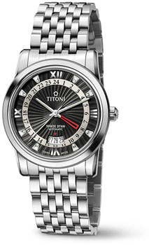 Швейцарские наручные  мужские часы Titoni 94738-S-378. Коллекция Space Star