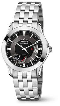 Швейцарские наручные  мужские часы Titoni 94929-S-356. Коллекция Impetus