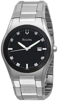 Японские наручные  мужские часы Bulova 96D104. Коллекция Diamond