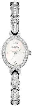 Японские наручные  женские часы Bulova 96L199. Коллекция Crystal