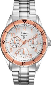 Японские наручные  женские часы Bulova 96N101. Коллекция Marine Star