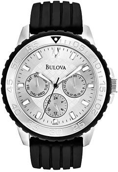 Японские наручные  мужские часы Bulova 96N104. Коллекция Marine Star