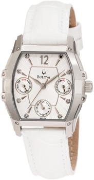 Японские наручные  женские часы Bulova 96P126. Коллекция Diamond