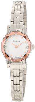 Японские наручные  женские часы Bulova 96P130. Коллекция Diamond