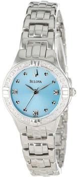 Японские наручные  женские часы Bulova 96R172. Коллекция Diamond