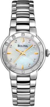 Японские наручные  женские часы Bulova 96R173. Коллекция Diamond