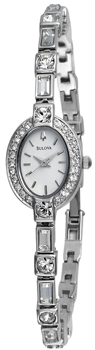 Японские наручные  женские часы Bulova 96T49. Коллекция Crystal