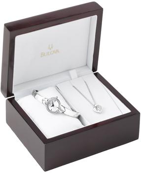 Японские наручные  женские часы Bulova 96X111. Коллекция Crystal