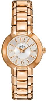 Японские наручные  женские часы Bulova 97L122. Коллекция Dress