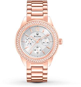 Японские наручные  женские часы Bulova 97N101. Коллекция Crystal