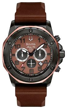 Японские наручные  мужские часы Bulova 98B128. Коллекция Marine Star