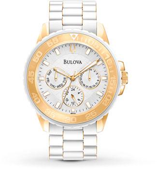 Японские наручные  женские часы Bulova 98N102. Коллекция Marine Star