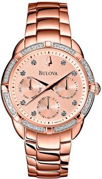 Японские наручные  женские часы Bulova 98R178. Коллекция Diamond