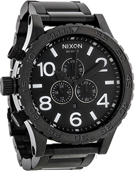 fashion наручные  мужские часы Nixon A083-001. Коллекция 51-30 Chrono