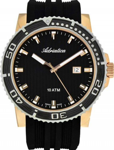 Мужские наручные швейцарские часы в коллекции Strap Adriatica