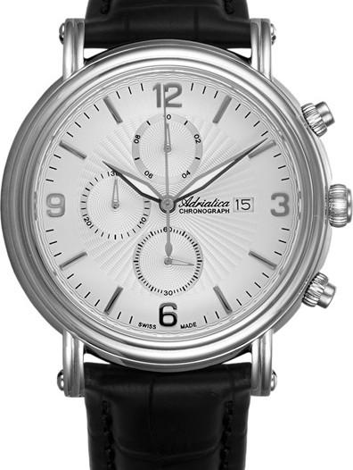 Мужские наручные швейцарские часы в коллекции Chronographs Adriatica