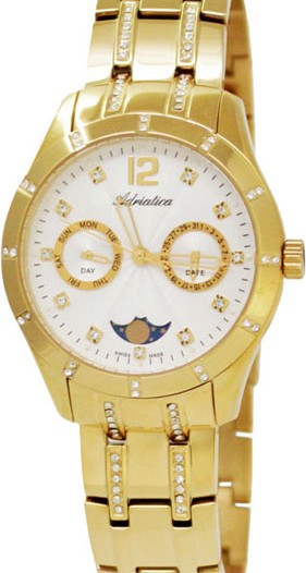 Женские наручные швейцарские часы в коллекции Multifunction Adriatica