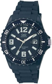 Японские наручные  женские часы Q&Q A430J010. Коллекция Sports