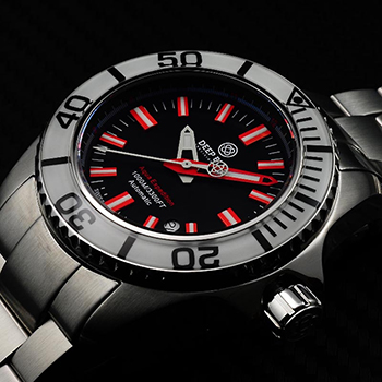 Швейцарские наручные  мужские часы Deep Blue AEWHTBLKRED. Коллекция Aqua Eexpedition