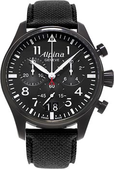 Швейцарские наручные  мужские часы Alpina AL-372B4FBS6. Коллекция Pilot