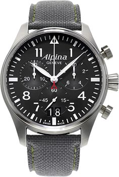 Швейцарские наручные  мужские часы Alpina AL-372B4S6. Коллекция Pilot