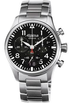 Швейцарские наручные  мужские часы Alpina AL-372B4S6B. Коллекция Aviation