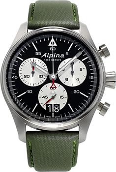 Швейцарские наручные  мужские часы Alpina AL-372BS4S6. Коллекция Startimer Pilot