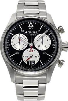 Швейцарские наручные  мужские часы Alpina AL-372BS4S6B. Коллекция Startimer Pilot