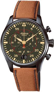 Швейцарские наручные  мужские часы Alpina AL-372GR4FBS6. Коллекция Aviation