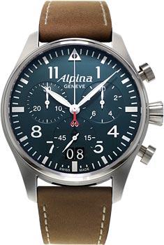 Швейцарские наручные  мужские часы Alpina AL-372N4S6. Коллекция Pilot