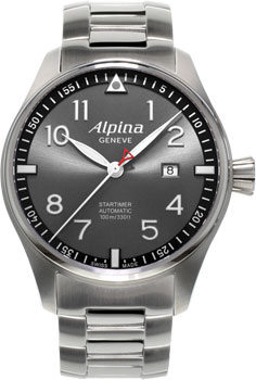 Швейцарские наручные  мужские часы Alpina AL-525GB4S6B. Коллекция Pilot
