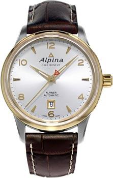 Швейцарские наручные  мужские часы Alpina AL-525S4E3. Коллекция Alpiner