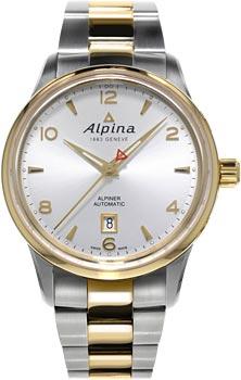 Швейцарские наручные  мужские часы Alpina AL-525S4E3B. Коллекция Alpiner