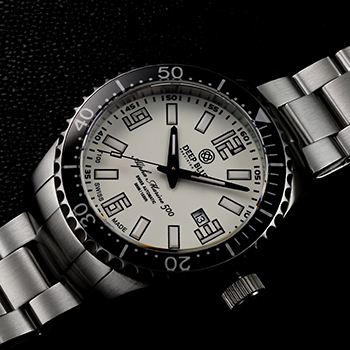 Швейцарские наручные  мужские часы Deep Blue AMT100BLKWHT. Коллекция Alpha Marine T 100