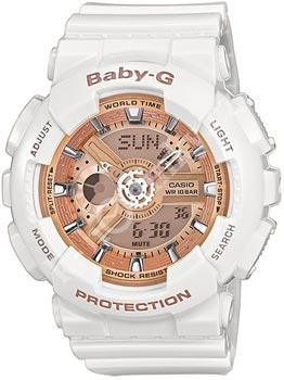 Японские наручные  женские часы Casio BA-110-7A1. Коллекция Baby-G