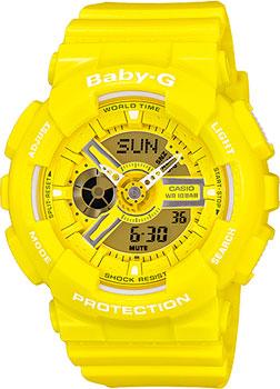 Японские наручные  женские часы Casio BA-110BC-9A. Коллекция Baby-G